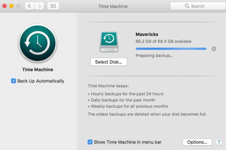 time machine stuck preparing backup